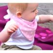 Bibetta nyálkendő dupla nedvszívó réteggel - rózsaszín csillagos