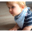 Bibetta nyálkendő dupla nedvszívó réteggel - kék csillagos