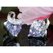 Aurora Swarovski kristályos szív alakú fülbevaló - Lila