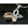 Swarovski kristályos nyaklánc  Borostyán szinű pillangós medállal