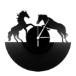 Bakelit falióra - lovak