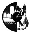 Bakelit óra - Boston Terrier