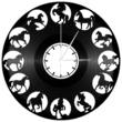 Bakelit falióra - lovas óra