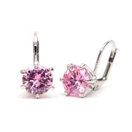 Tidal Swarovski kristályos fülbevaló - Rózsaszín