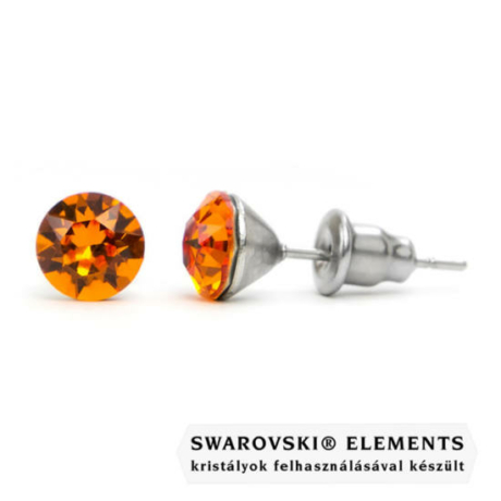Jazzy borostyán Swarovski® kristályos fülbevaló - Tangerine