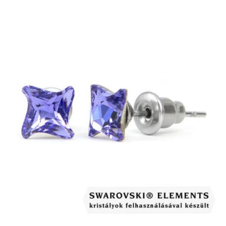 Jazzy lila Swarovski® kristályos fülbevaló - Twister Tanzanite