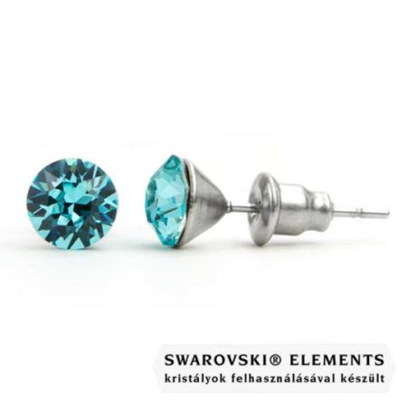 "Jazzy türkiz Swarovski® kristályos fülbevaló \Aquarius\"" - Light Turquoise"""