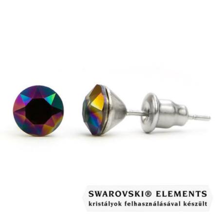 Jazzy színes Swarovski® kristályos fülbevaló - Rainbow Dark
