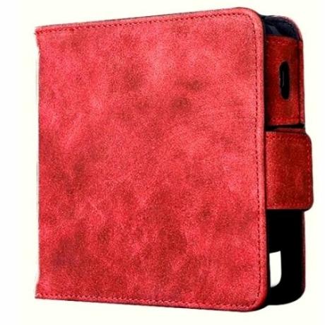 IQOS 2.4 műbőrtok matt heets tartóval - piros
