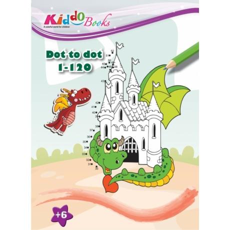 Mágikus sárkányok pontról-pontra színező Kiddo Books