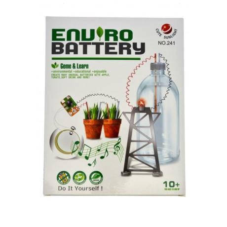 Kísérletező játék, elektromossági teszt, természetes anyagokból kinyert elektromosság, 17x22 cm dobozban