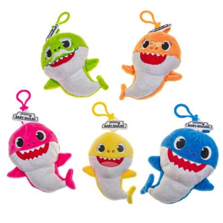 Baby Shark plüss pénztárca (5 féle)