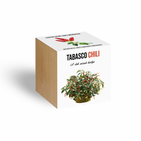Tabasco chili paprika növényem fa kockában